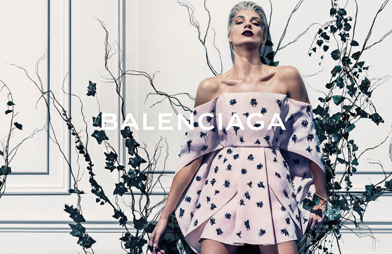 balenciaga spring 2014 campaign1 Preview | Balenciaga Spring/Summer 2014 Campaign with Daria Werbowy