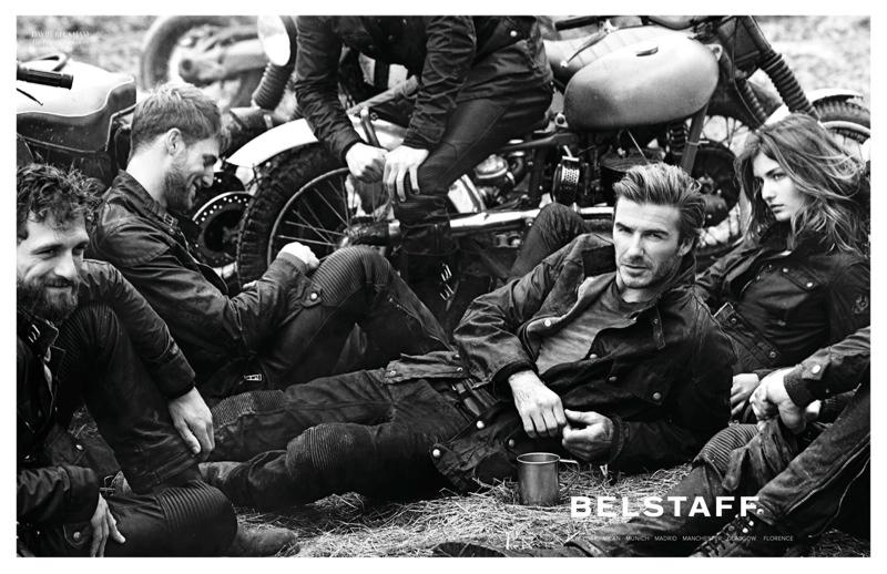 belstaff spring 2014 campaign1 Andreea Diaconu & David Beckham for Belstaff Spring 2014 Campaign by Peter Lindbergh
