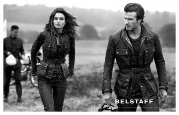 Andreea Diaconu & David Beckham for Belstaff Spring 2014 Campaign by Peter Lindbergh