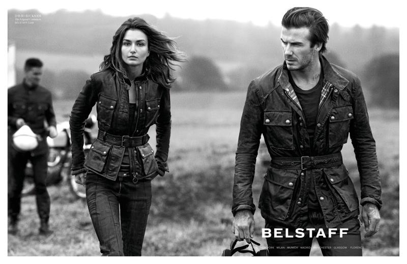belstaff spring 2014 campaign3 Andreea Diaconu & David Beckham for Belstaff Spring 2014 Campaign by Peter Lindbergh