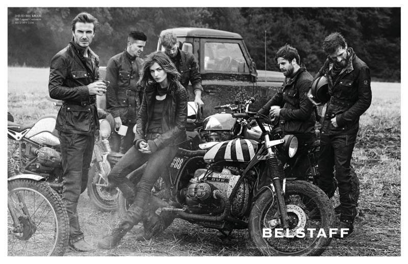 Andreea Diaconu & David Beckham for Belstaff Spring 2014 Campaign by Peter Lindbergh
