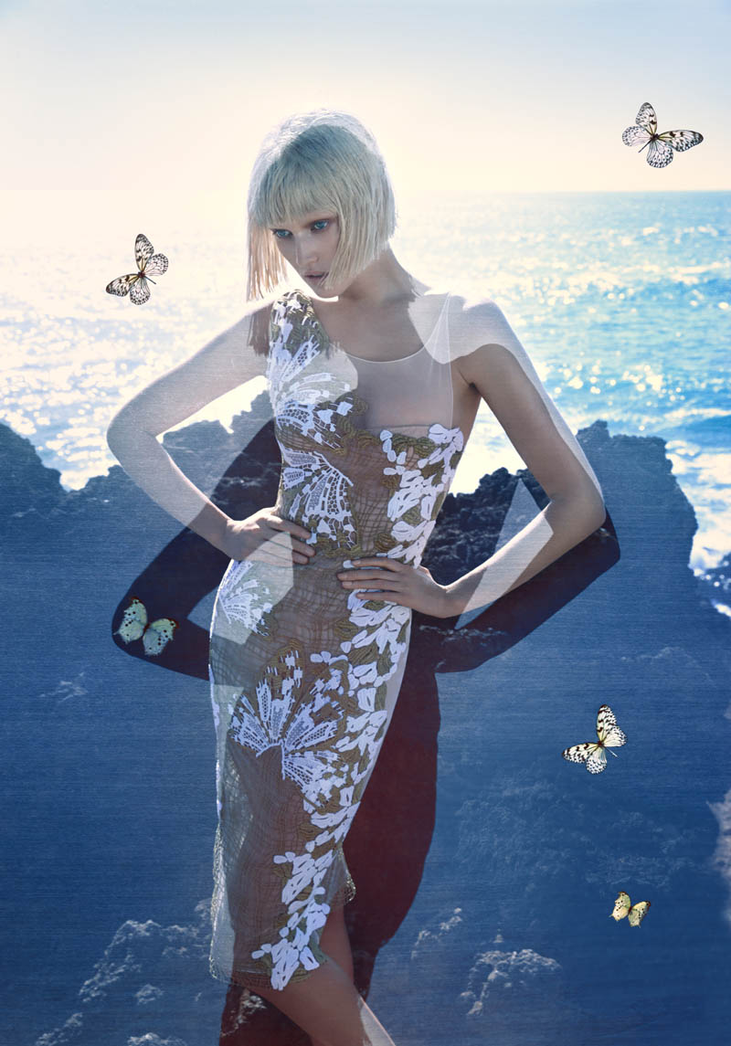 blumarine toni garrn ad photos1 More Photos of Toni Garrn in Blumarines Spring 2014 Ads
