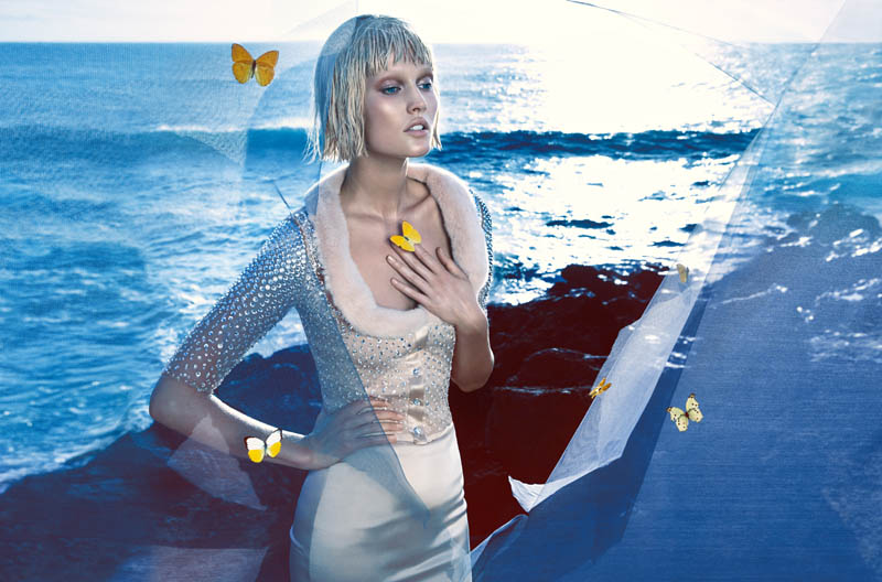 blumarine toni garrn ad photos10 More Photos of Toni Garrn in Blumarines Spring 2014 Ads