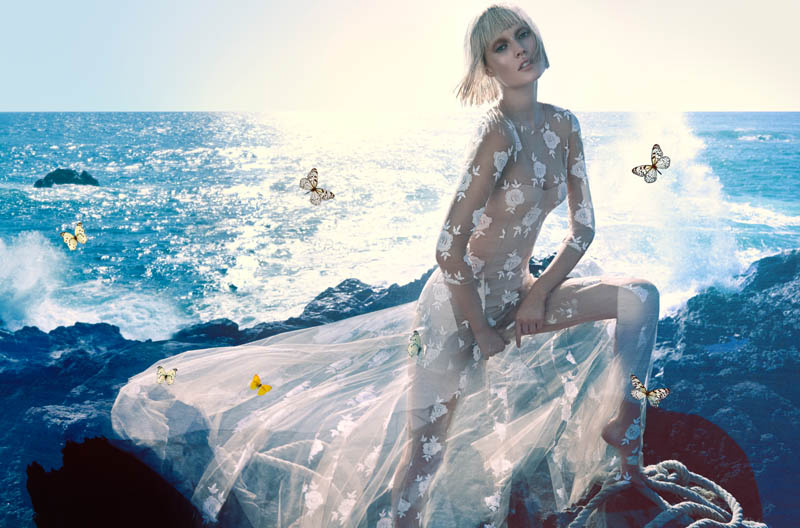 blumarine toni garrn ad photos2 More Photos of Toni Garrn in Blumarines Spring 2014 Ads