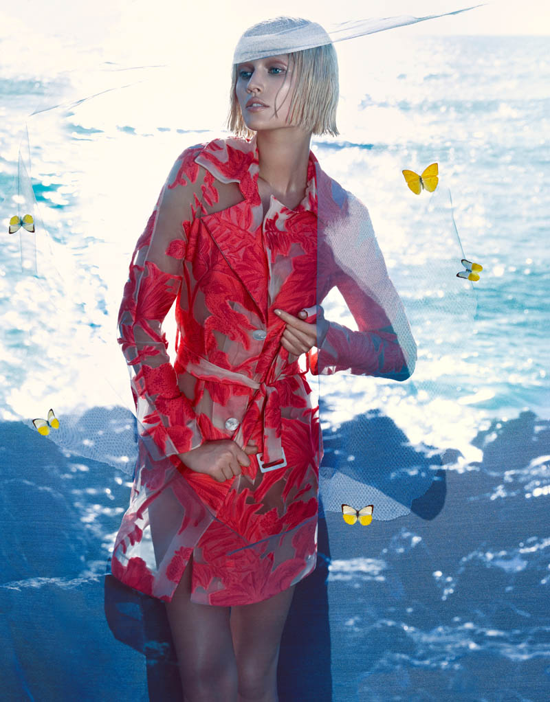 More Photos of Toni Garrn in Blumarine's Spring 2014 Ads