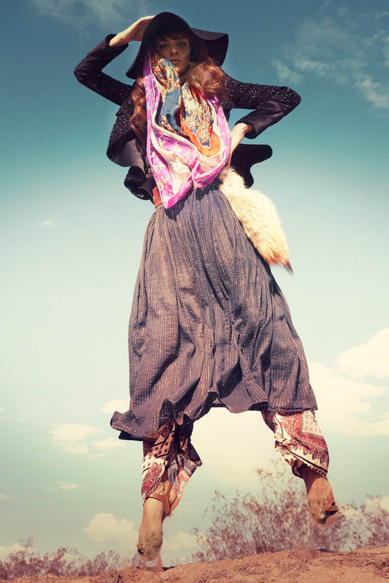 bohemian marie claire7 Lauren Switzer is Bohemian Chic for Marie Claire Latin America by Vladimir Martí