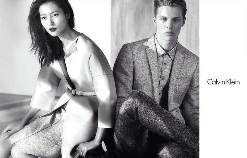 calvin klein platinum spring 2014 campaign1 Liu Wen Fronts Calvin Klein Platinum Spring/Summer 2014 Campaign