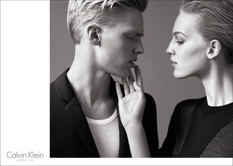 calvin klein spring 2014 campaign1 Vanessa Axente Fronts Calvin Klein Spring/Summer 2014 Campaign