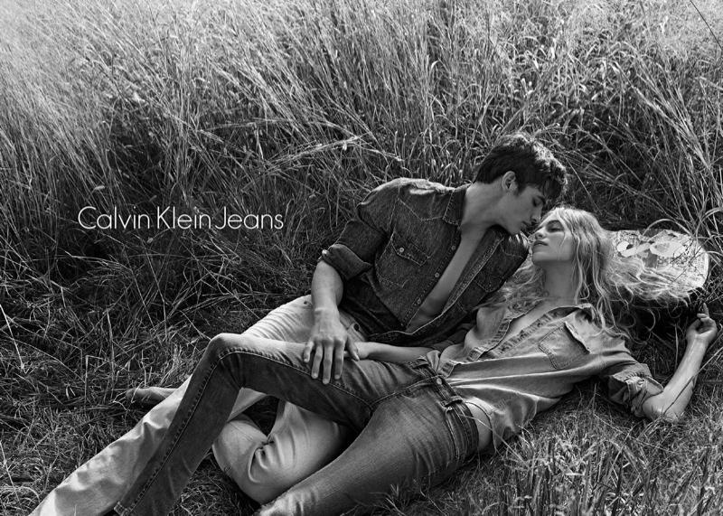 calvin klein spring 2014 campaign3 Vanessa Axente Fronts Calvin Klein Spring/Summer 2014 Campaign