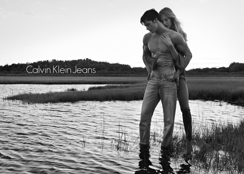 calvin klein spring 2014 campaign4 Vanessa Axente Fronts Calvin Klein Spring/Summer 2014 Campaign
