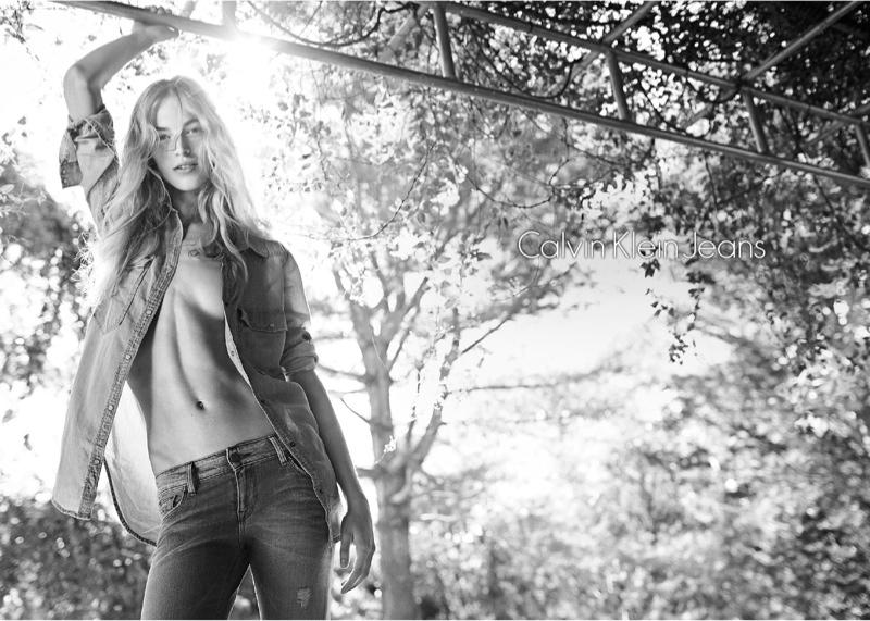 calvin klein spring 2014 campaign5 Vanessa Axente Fronts Calvin Klein Spring/Summer 2014 Campaign
