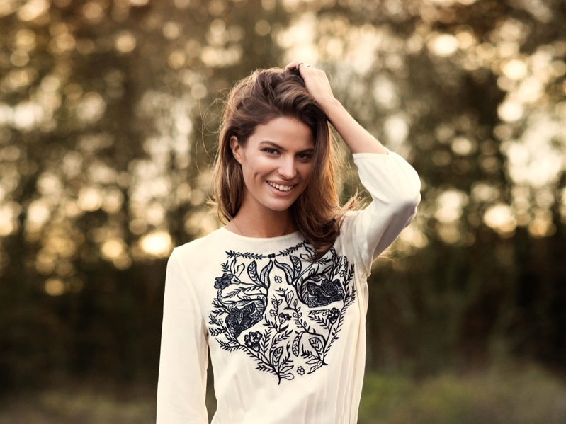 cameron russell model 12 Cameron Russell is Western Chic for H&M Shoot by David Roemer