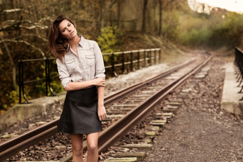 Cameron Russell is 'Western Chic' for H&M Shoot by David Roemer