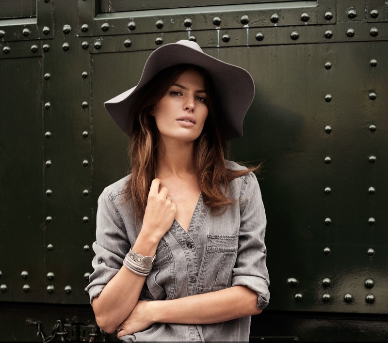 cameron russell model 9 Cameron Russell is Western Chic for H&M Shoot by David Roemer