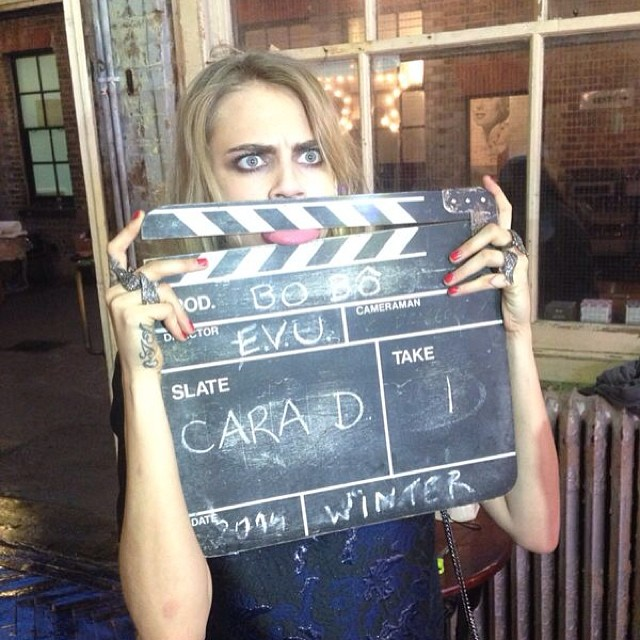 cara bts bobo2 Cara Delevingne Shoots Upcoming BO.BÔ Ads with Ellen von Unwerth