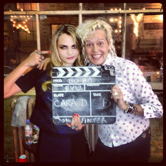 cara bts bobo7 Cara Delevingne Shoots Upcoming BO.BÔ Ads with Ellen von Unwerth
