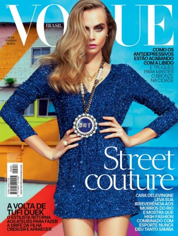 Cara Delevingne Lands Vogue Brazil February 2014 Cover