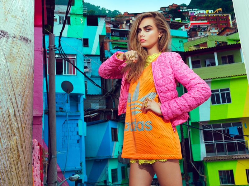 cara jacques dequeker3 Cara Delevingne Hits the Streets for Vogue Brazil Spread