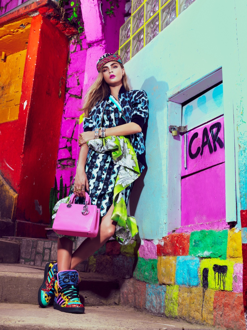 cara jacques dequeker6 Cara Delevingne Hits the Streets for Vogue Brazil Spread