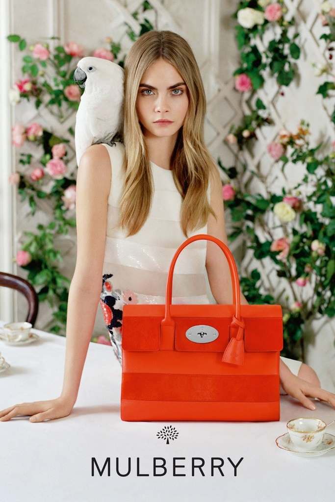 cara mulberry spring summer 2014 2 See More Photos from Cara Delevingnes Mulberry Campaign