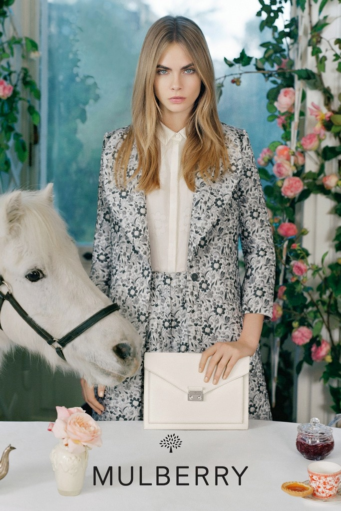 cara mulberry spring summer 2014 3 See More Photos from Cara Delevingnes Mulberry Campaign