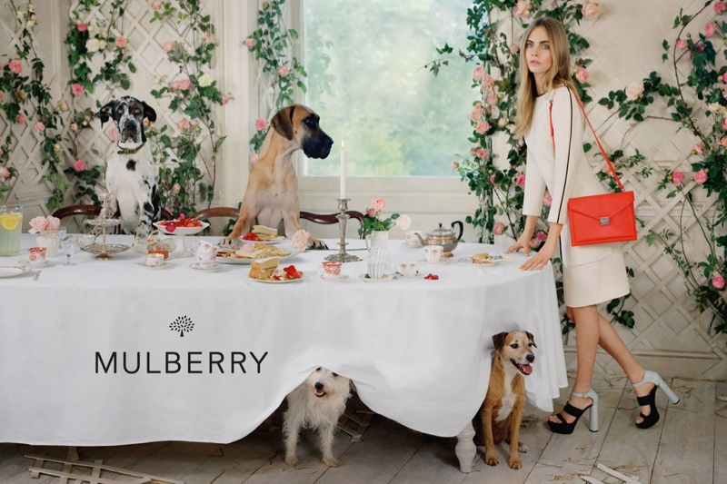 cara mulberry spring summer 2014 4 See More Photos from Cara Delevingnes Mulberry Campaign
