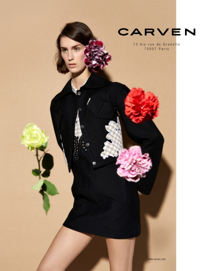 carven spring summer 2014 campaign1 Carven Enlists Marte Mei Van Haaster for its Spring/Summer 2014 Campaign