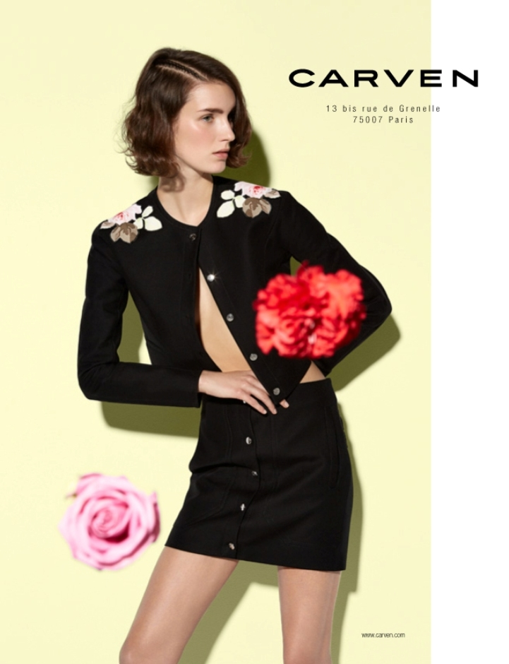 carven spring summer 2014 campaign3 Carven Enlists Marte Mei Van Haaster for its Spring/Summer 2014 Campaign