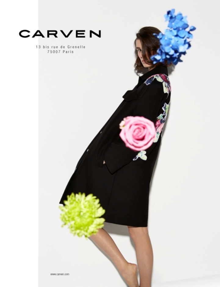 carven spring summer 2014 campaign4 Carven Enlists Marte Mei Van Haaster for its Spring/Summer 2014 Campaign