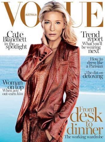 Cate Blanchett Covers Vogue Australia February 2014 in Gucci