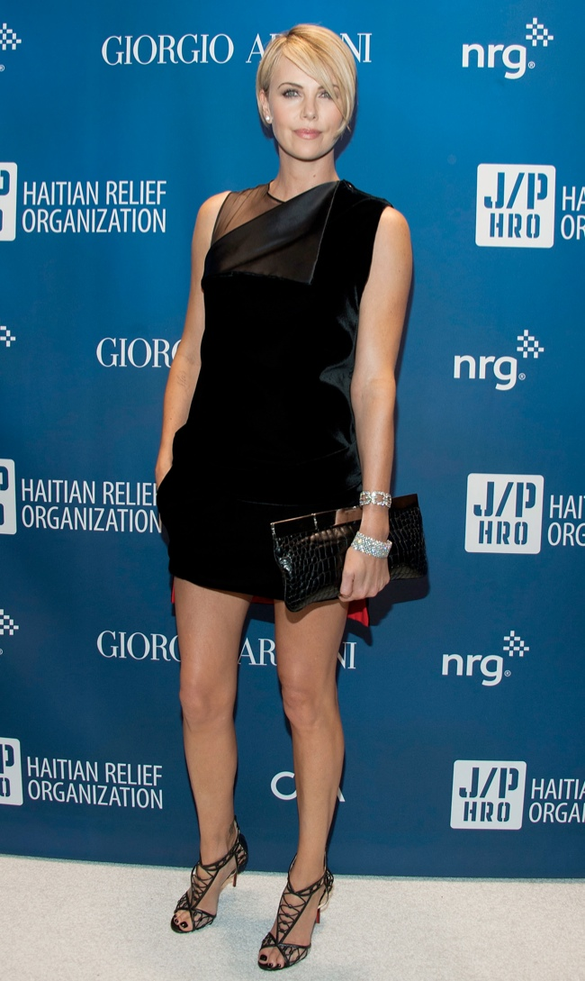 charlize theron givenchy dress1 Charlize Theron Wears Givenchy at the 3rd Annual Help Haiti Home Gala