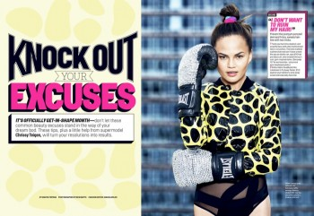 Chrissy Teigen Works Out in Style for Ben Watts in Cosmopolitan Shoot