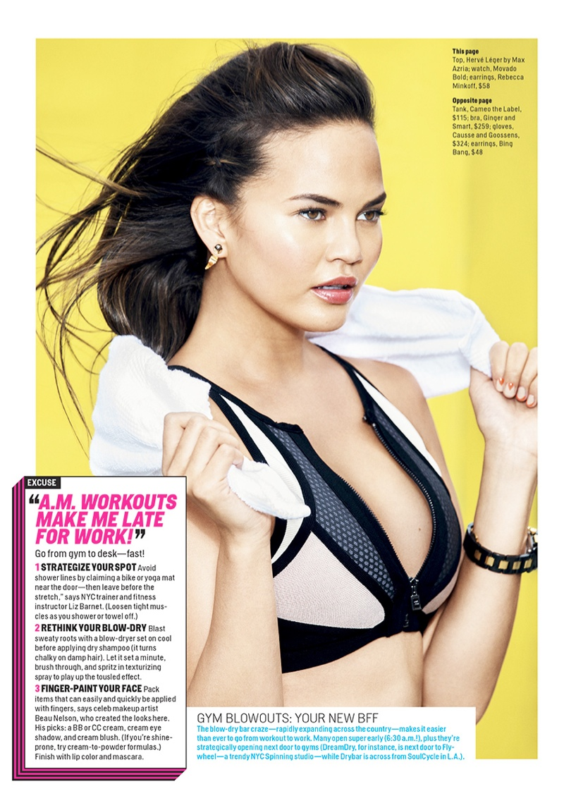 chrissy teigen2 Chrissy Teigen Works Out in Style for Ben Watts in Cosmopolitan Shoot