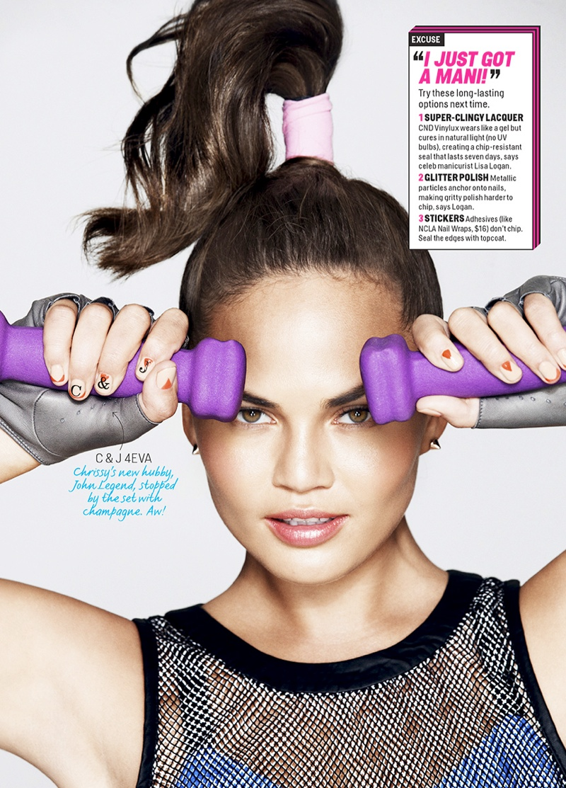 chrissy teigen3 Chrissy Teigen Works Out in Style for Ben Watts in Cosmopolitan Shoot