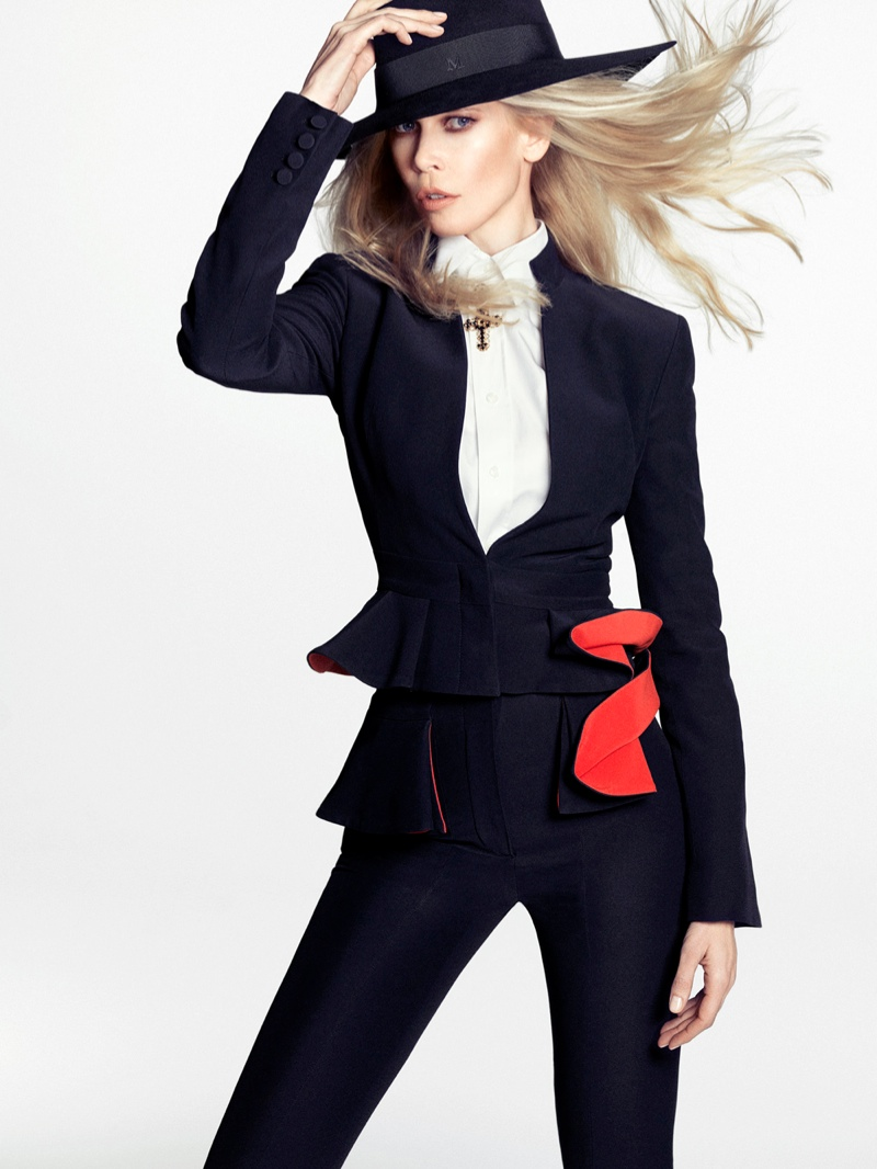 Claudia Schiffer Wows in The Edit Photo Shoot, Talks Shyness