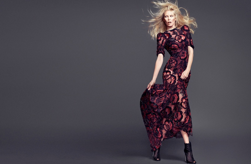 claudia schiffer 2014 4 Claudia Schiffer Wows in The Edit Photo Shoot, Talks Shyness