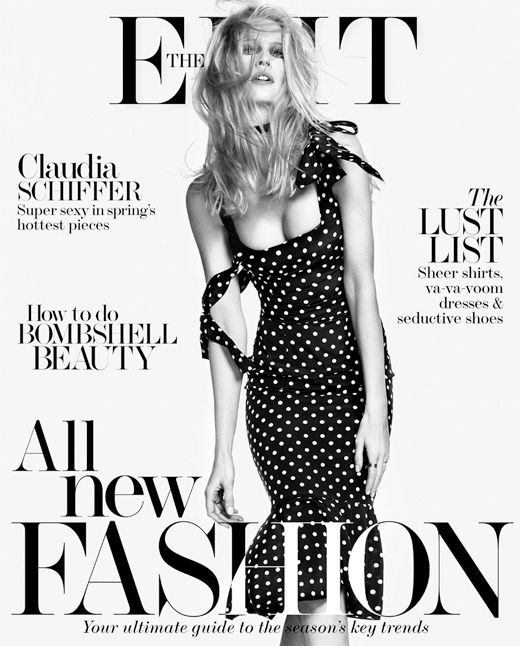 claudia schiffer 2014 5 Claudia Schiffer Wows in The Edit Photo Shoot, Talks Shyness