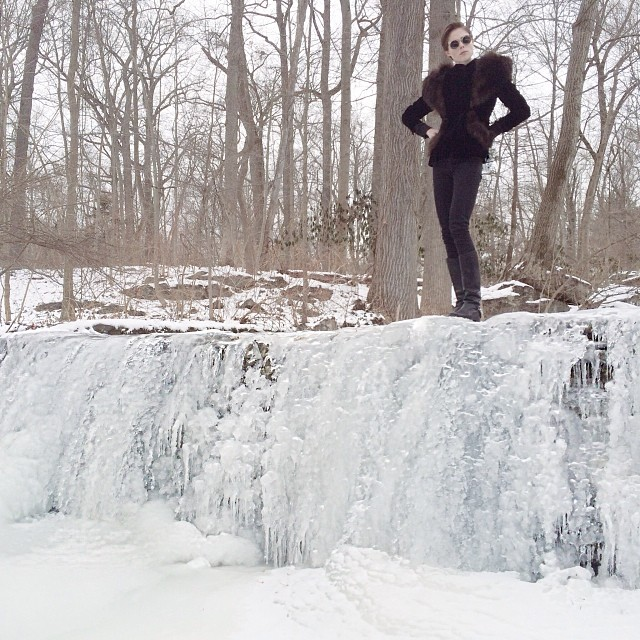 coco frozen waterfall Instagram Photos of the Week | Toni Garrn, Bar Refaeli, Behati Prinsloo + More