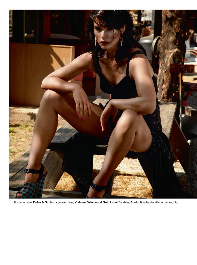 crystal renn model10 Crystal Renn Smolders for David Roemer in Grazia France