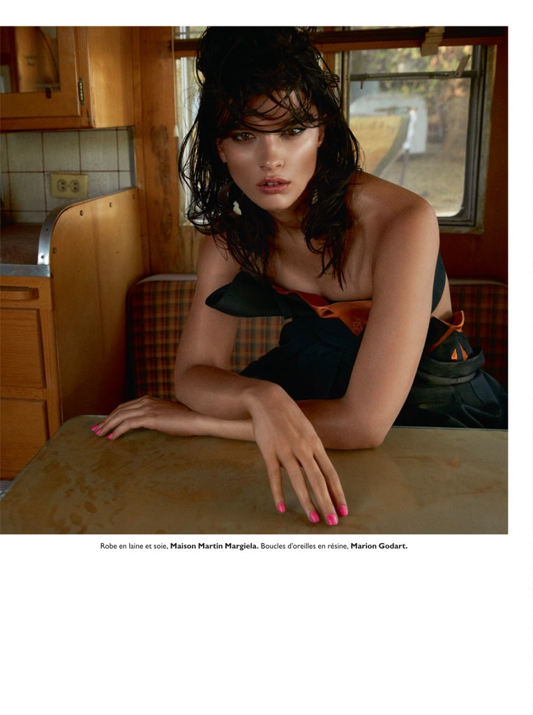 crystal renn model4 Crystal Renn Smolders for David Roemer in Grazia France
