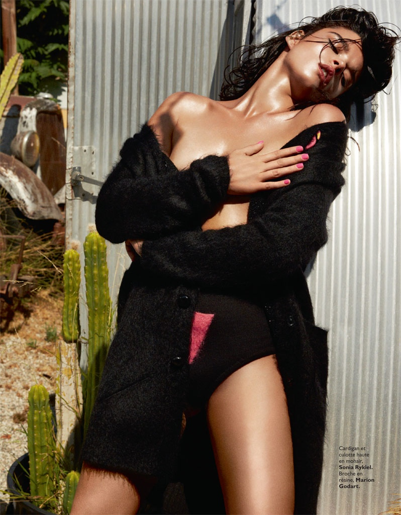 crystal renn model8 Crystal Renn Smolders for David Roemer in Grazia France