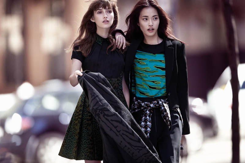 cue fall 2014 campaign10 Gabby Dover, Seon Hwang + Maddison Brown Front Cue Winter 2014 Campaign