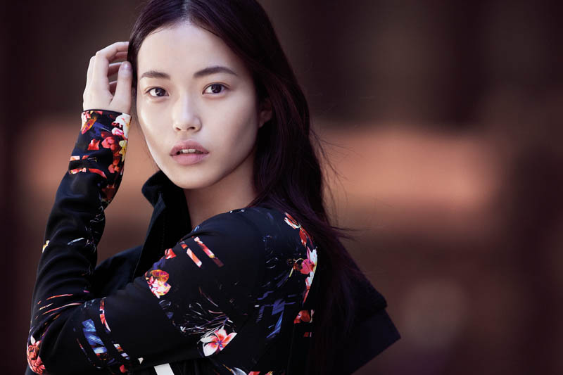 cue fall 2014 campaign4 Gabby Dover, Seon Hwang + Maddison Brown Front Cue Winter 2014 Campaign