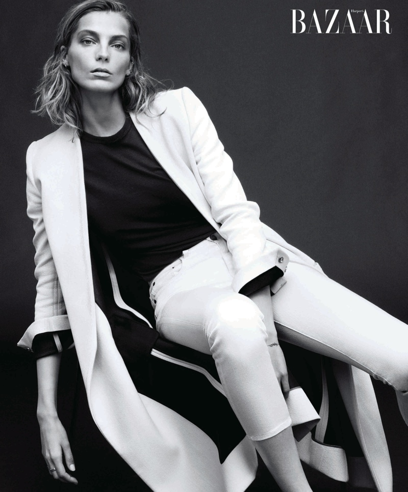 daria bazaar cover feature2 Daria Werbowy Covers Harpers Bazaar February 2014, Talks Turning 30