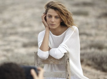 Video | Daria Werbowy BTS at Mango Spring 2014 Shoot
