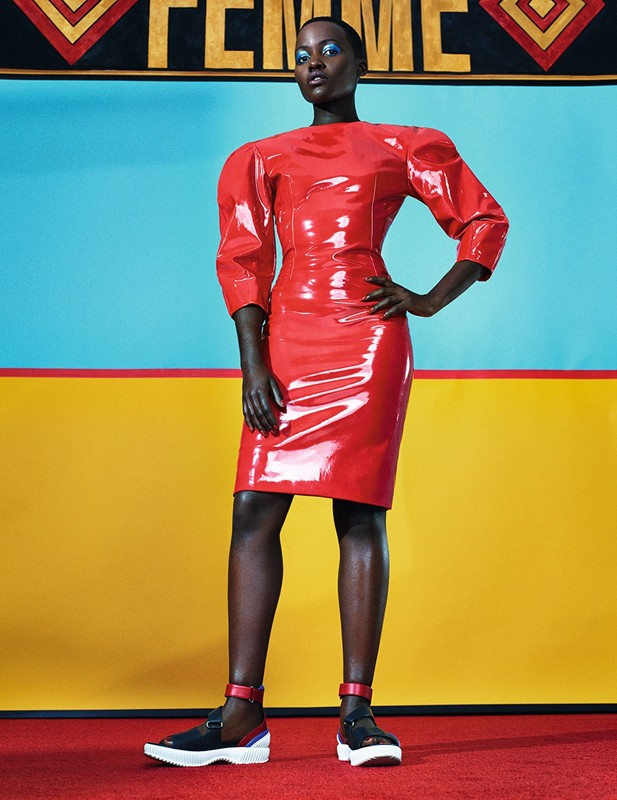dazed lupita shoot2 Lupita Nyongo Covers Dazed & Confused February 2014 in Prada