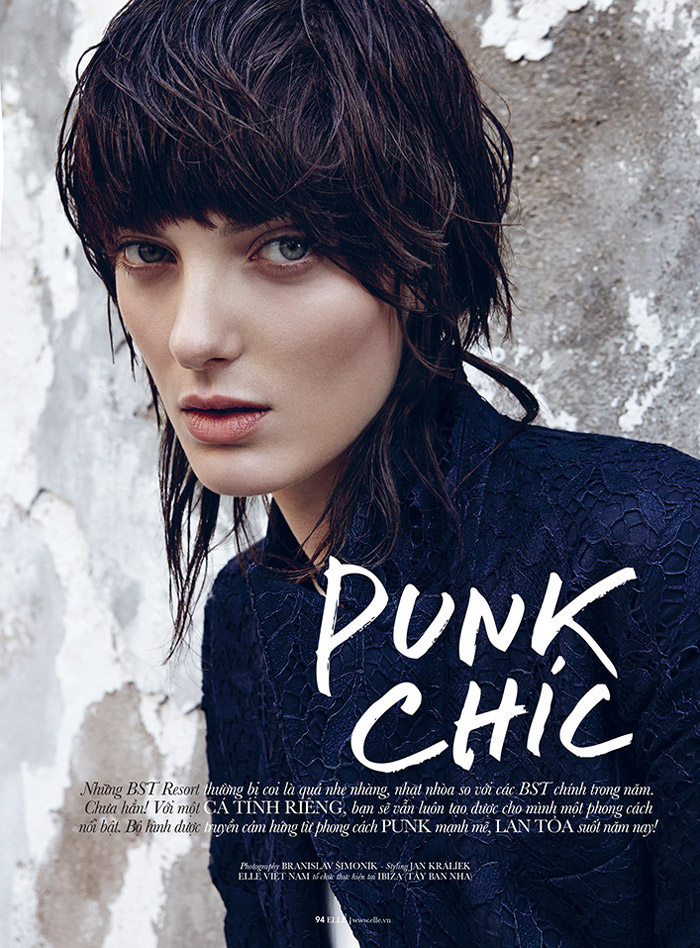 denisa punk shoot1 Denisa Dvorakova is Rock Glam for Elle Vietnam by Branislav Simoncik