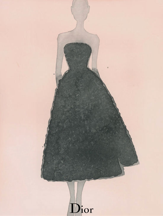 dior illustrations1 Dior Illustrated by Mats Gustafson