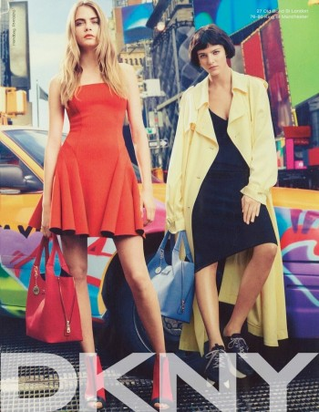 Preview | Cara Delevingne + Eliza Cummings for DKNY Spring/Summer 2014 Campaign