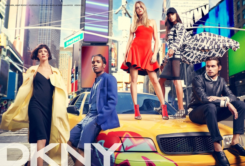 dkny spring 2014 campaign 1 Cara Delevingne, Jourdan Dunn + Eliza Cummings for DKNY Spring 2014 Ads